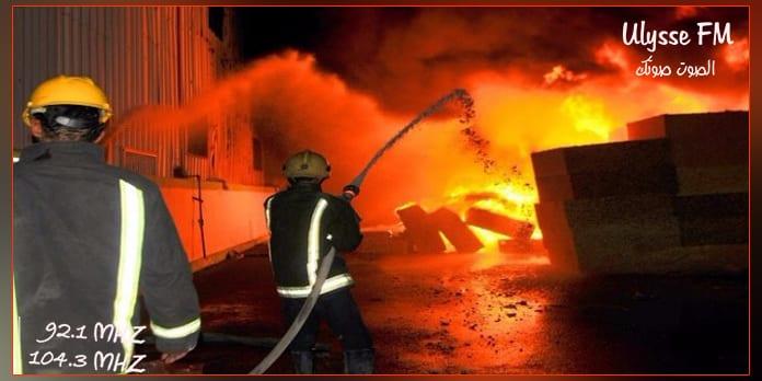 قابس :السيطرة على الحريق في معمل اسمنت