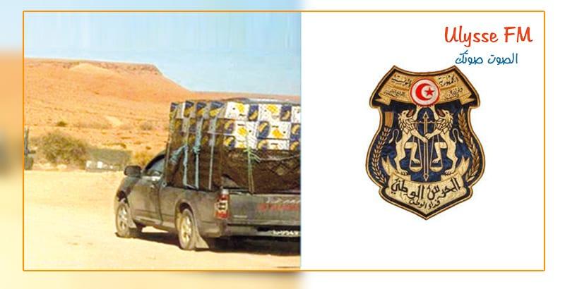 ظاهرة التهريب: ضبط 04 شاحنات نقل خفيف ودراجتين ناريتين محملة ببضاعة مهربة من قبل الحرس الوطني