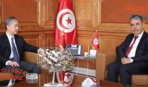 بعد إمضاء مذكّرة التفاهم التونسية الصينية : كرشيد يبحث مع السفير الصيني تقدّم إنجاز المشاريع الكبرى بالجنوب.