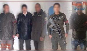 اعوان الحرس الوطني بتطاوين يحملون شارات حمراء