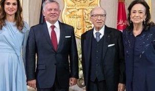 ملك الأردن وزوجته في تونس يوم الغد لتقديم التعازي في وفاة رئيس الجمهورية